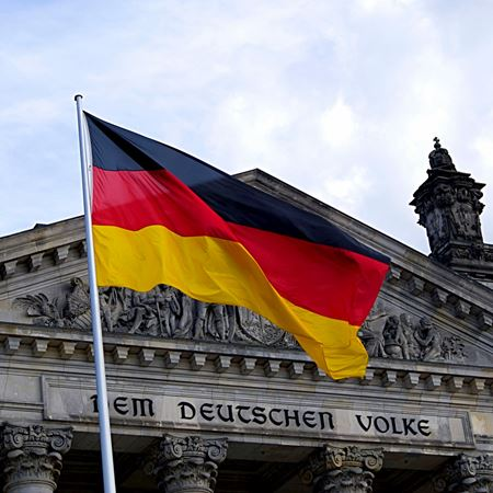 Canva Germany Flag In Front Of Building (2)